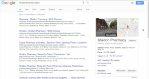 Google My Business Shelton Pharmacy