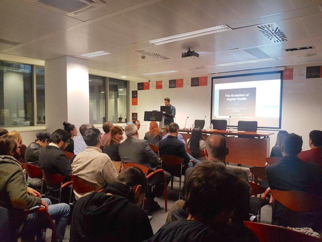"Presenting ""The Evolution of Digital Health"" in Barcelona, Spain."