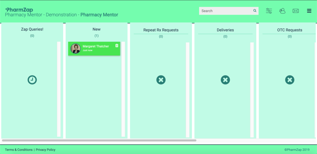 "PharmZap is ""The Instant Messenger for Community Pharmacy"""