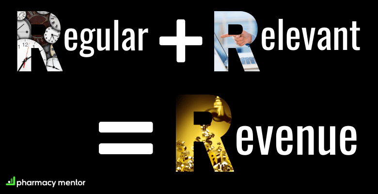 regular add relevant equals revenue