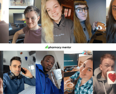 the pharmacy mentor team working from home