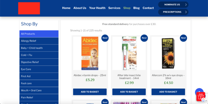 pharmacy eCommerce Solution